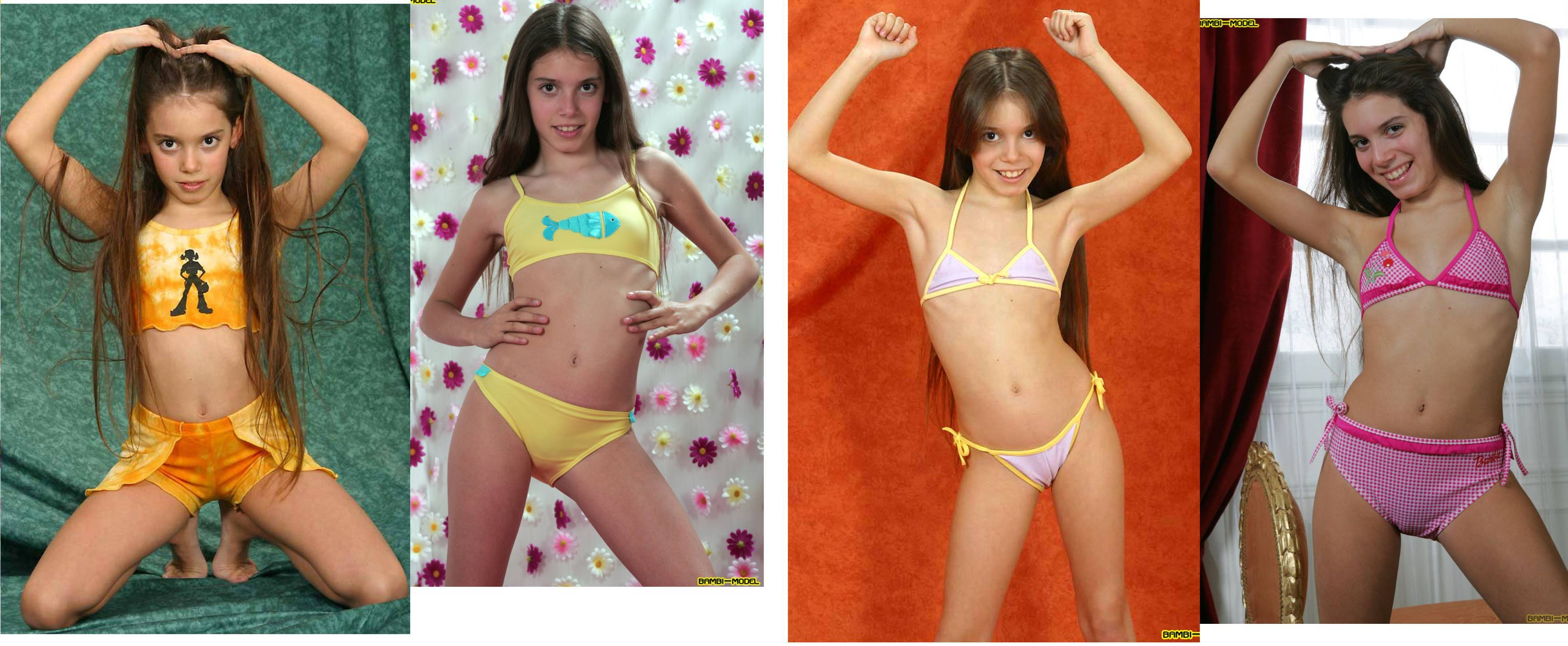 naked girl time lapse Bambi-Model - professional modeling photography through the years - 04 - 05  ...