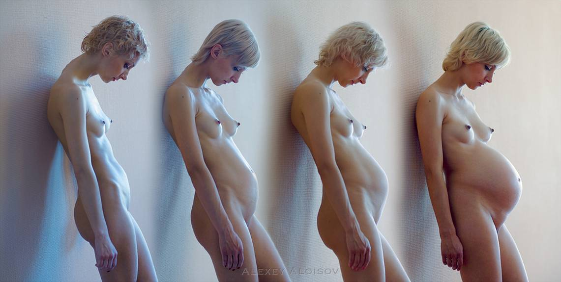 nude pregnant time lapse
